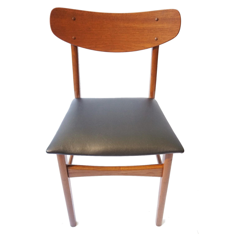 Danish Teak U Back Chair - image-4