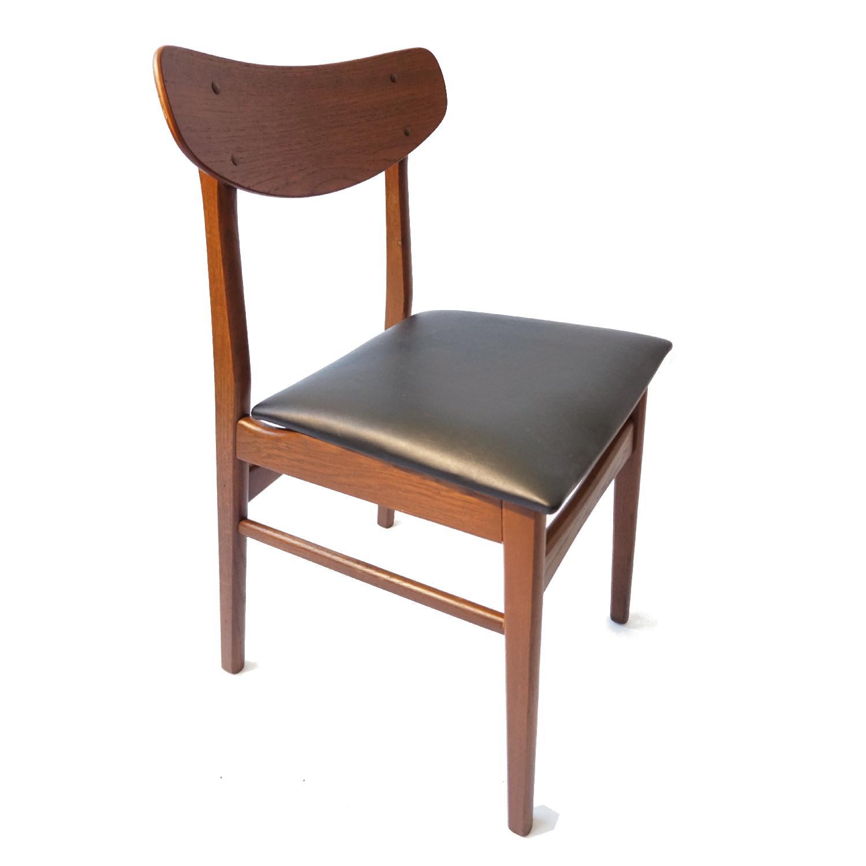 Danish Teak U Back Chair - image-5