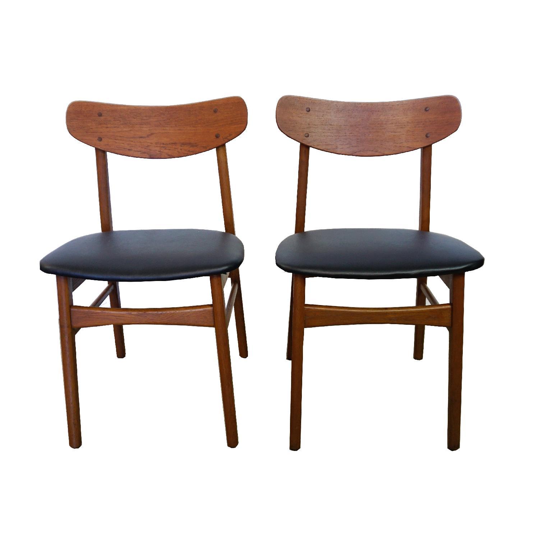 Danish Teak U Back Chair - image-0