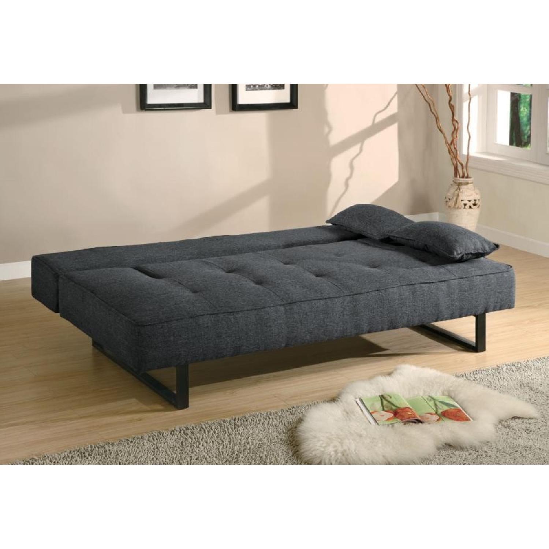 Modern Convertible Sofa in Tweed-Like Fabric - image-2