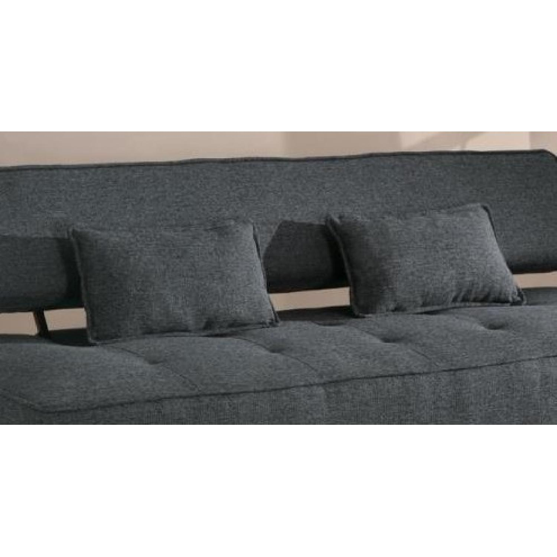 Modern Convertible Sofa in Tweed-Like Fabric - image-3