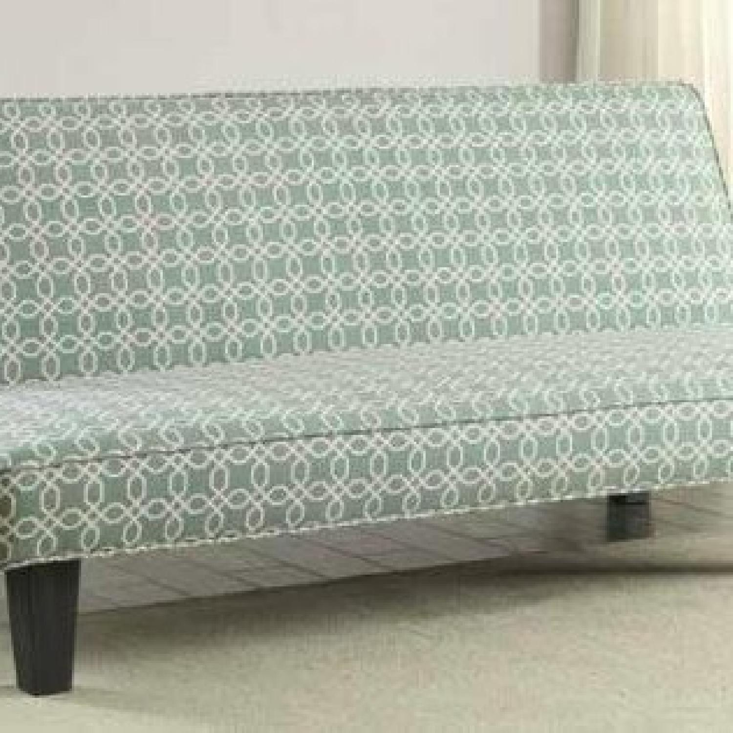 Convertible Sofabed in Teal Fabric - image-2