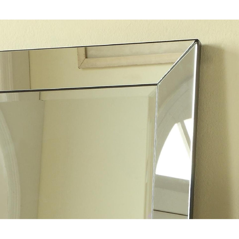 Contemporary Full Length Floor Mirror w/ Beveled Edge - image-2