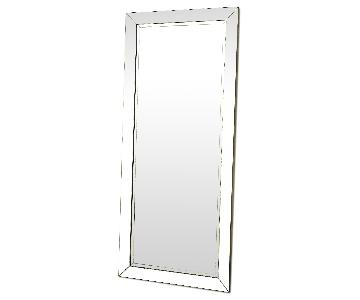 Contemporary Full Length Floor Mirror w/ Beveled Edge