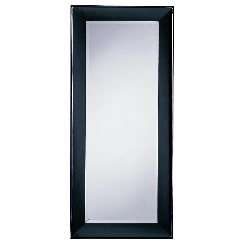 Modern Wood Frame Full Length Beveled Wall Leaning Mirror w/ - image-0