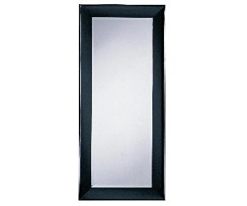 Modern Wood Frame Full Length Beveled Wall Leaning Mirror w/