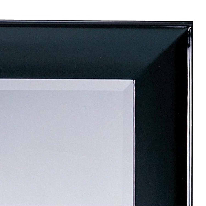 Modern Wood Frame Full Length Beveled Wall Leaning Mirror w/ - image-1