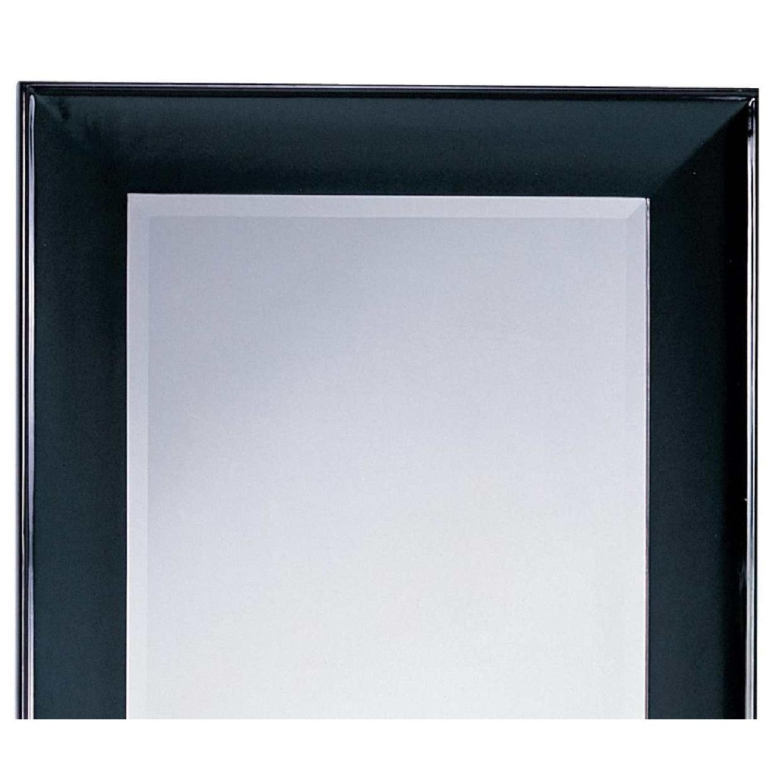 Modern Wood Frame Full Length Beveled Wall Leaning Mirror w/ - image-2