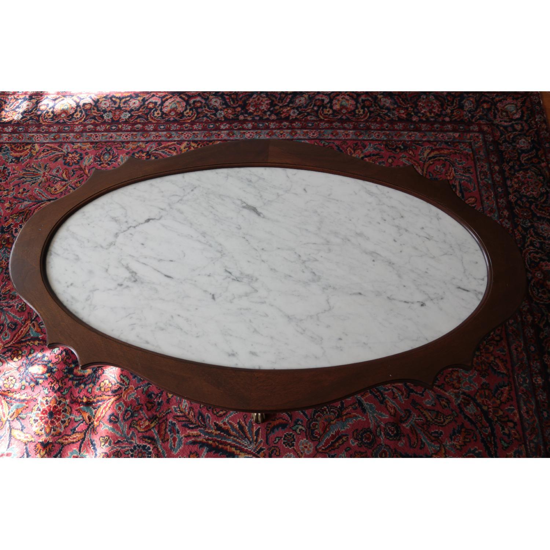 Vintage Coffee Table w/ Marble Top - image-1