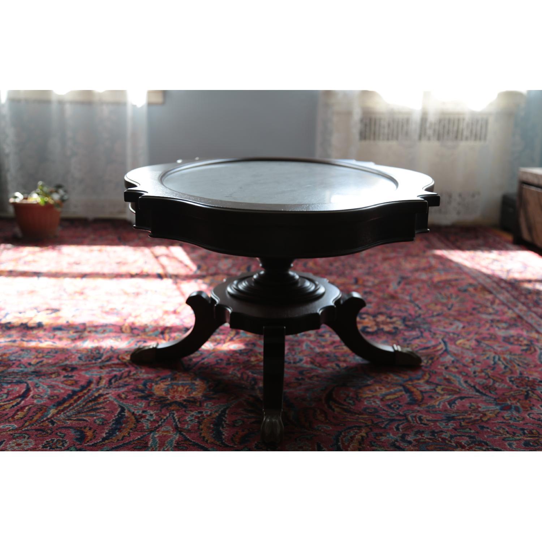 Vintage Coffee Table w/ Marble Top - image-6