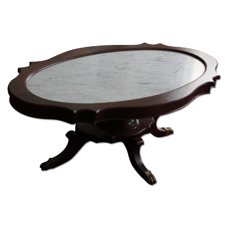 Vintage Coffee Table w/ Marble Top - image-0