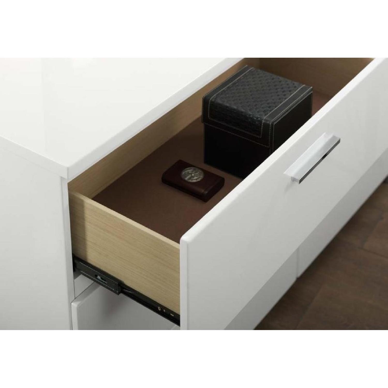 6-Drawer Dresser in High Gloss White Finish w/ Chrome Metal  - image-3