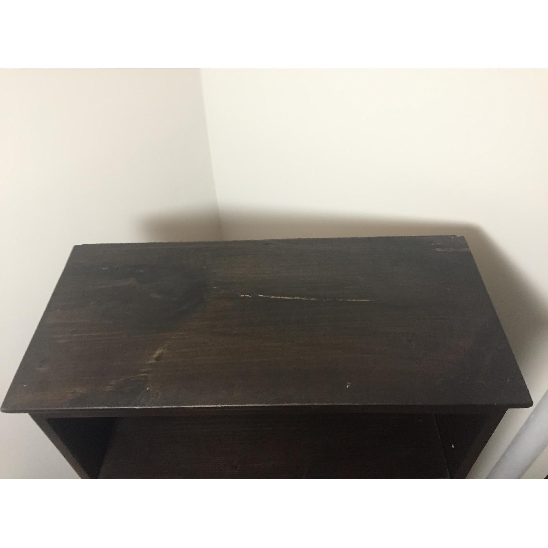 Custom-Built Espresso Wood Bookcase - image-6