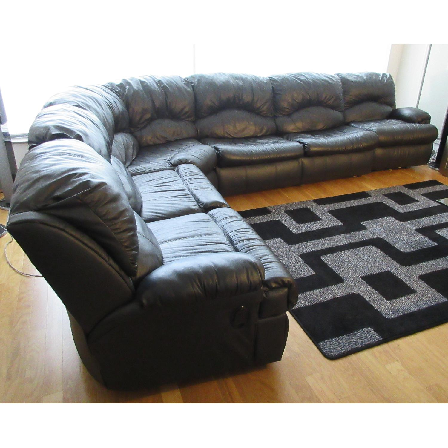 Klaussner Phoenix Sectional w/ Recliners & Fold Out Bed - image-1