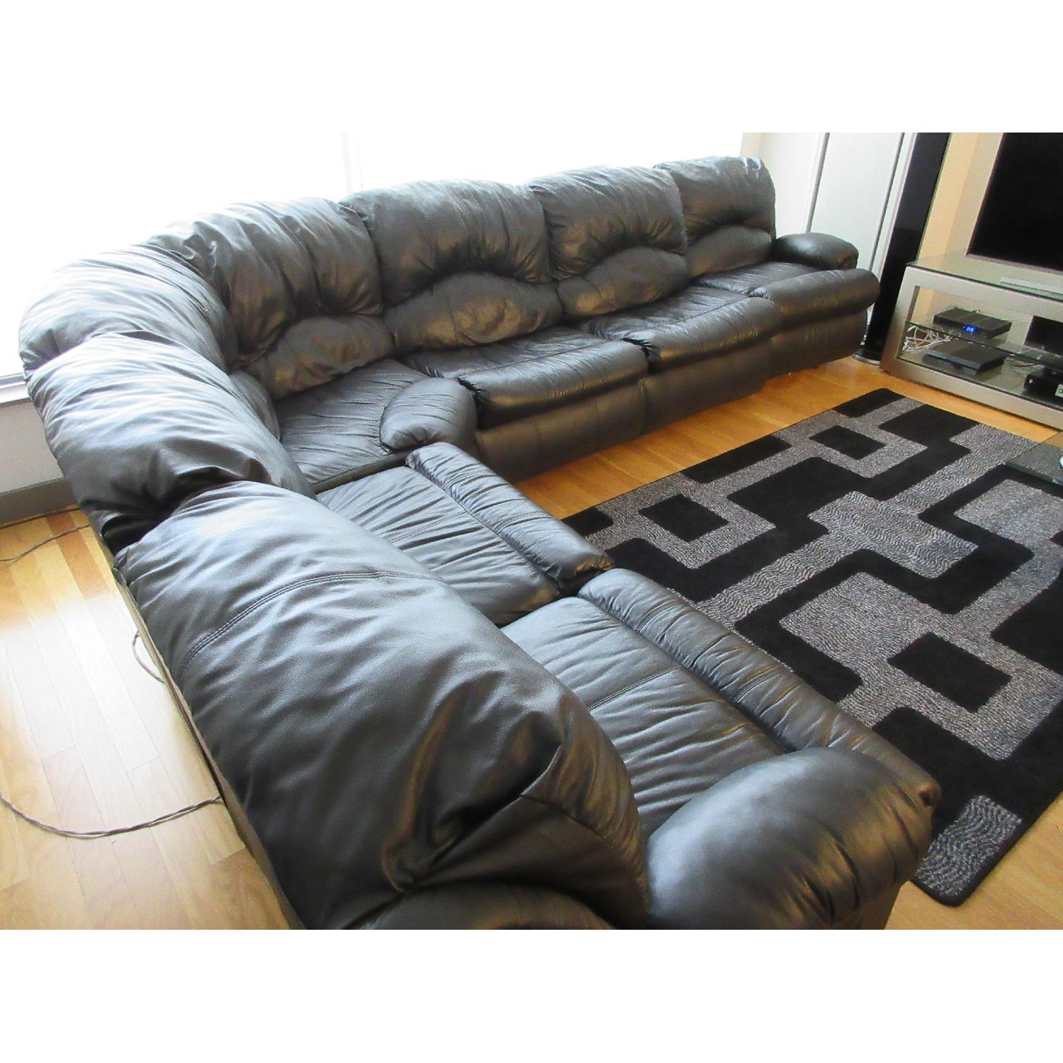 Klaussner Phoenix Sectional w/ Recliners & Fold Out Bed - image-5
