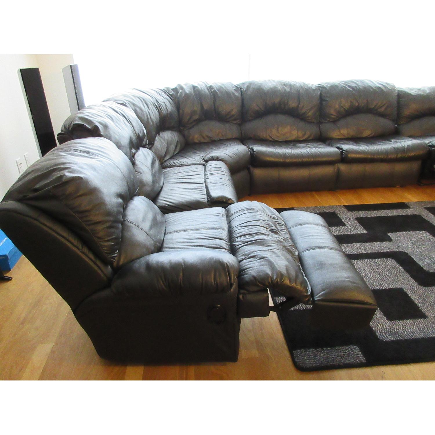 Klaussner Phoenix Sectional w/ Recliners & Fold Out Bed - image-6