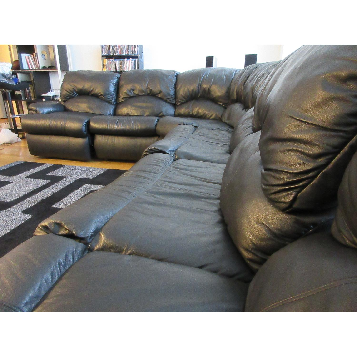 Klaussner Phoenix Sectional w/ Recliners & Fold Out Bed - image-8