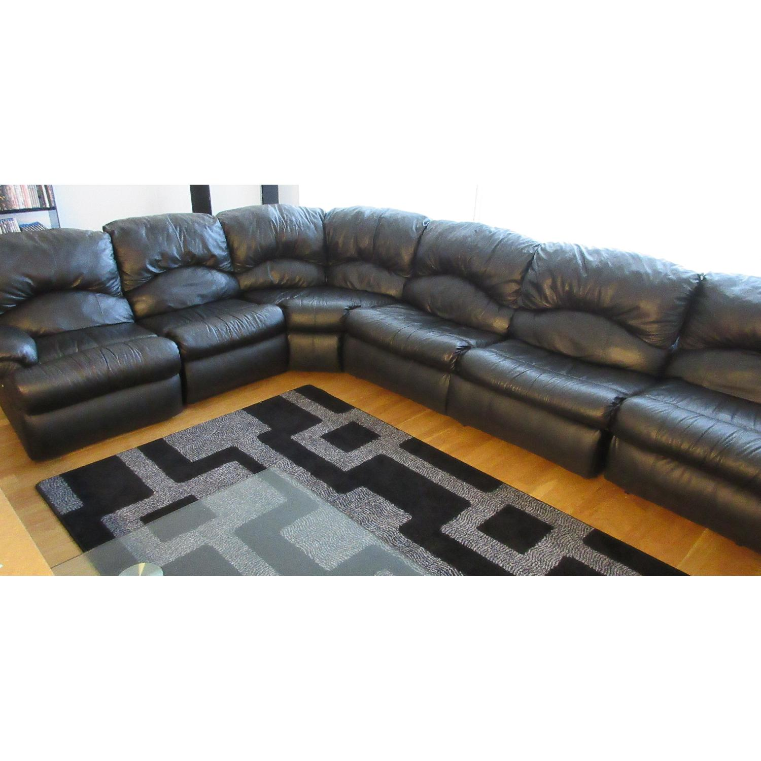 Klaussner Phoenix Sectional w/ Recliners & Fold Out Bed - image-9