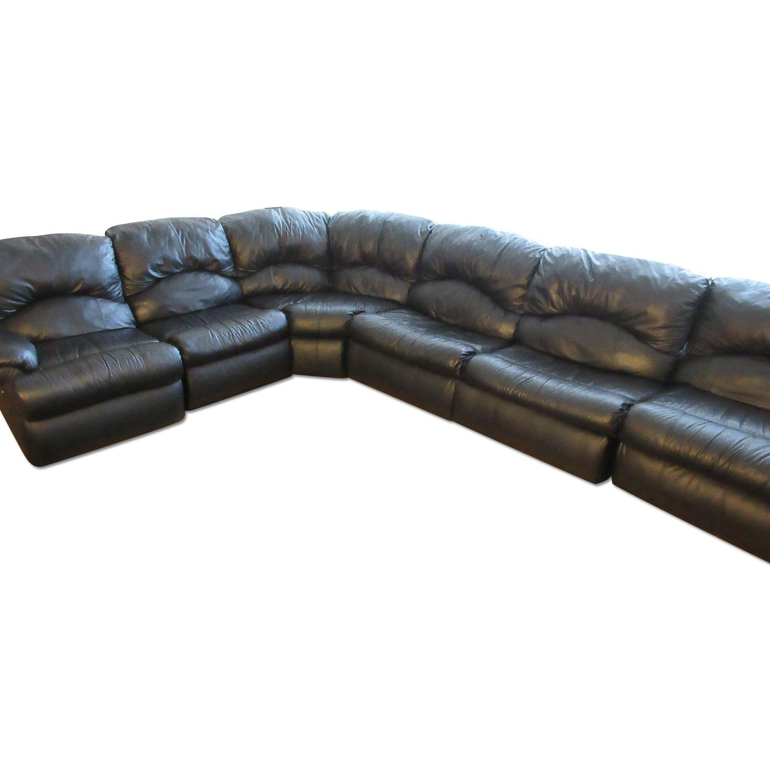 Klaussner Phoenix Sectional w/ Recliners & Fold Out Bed - image-0