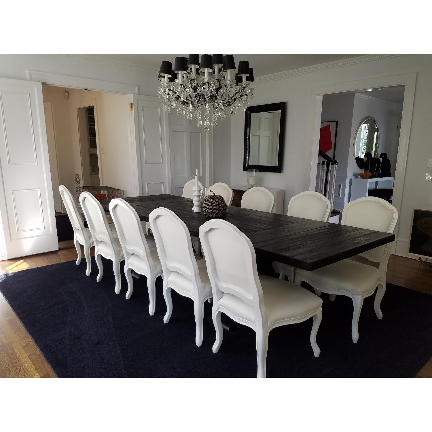 Restoration Hardware Dining Table w/ 10 Chairs - image-1