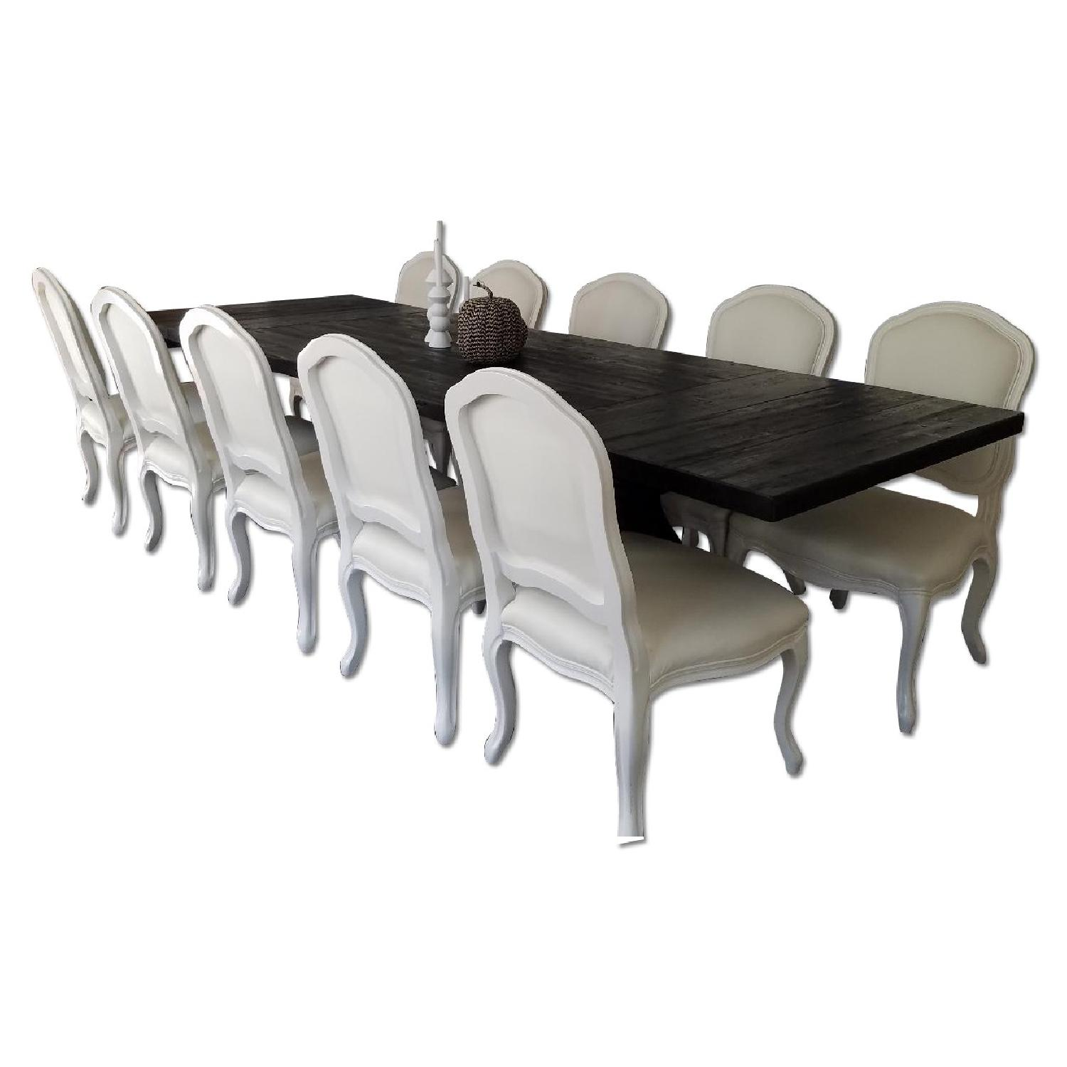 Restoration Hardware Dining Table w/ 10 Chairs - image-0