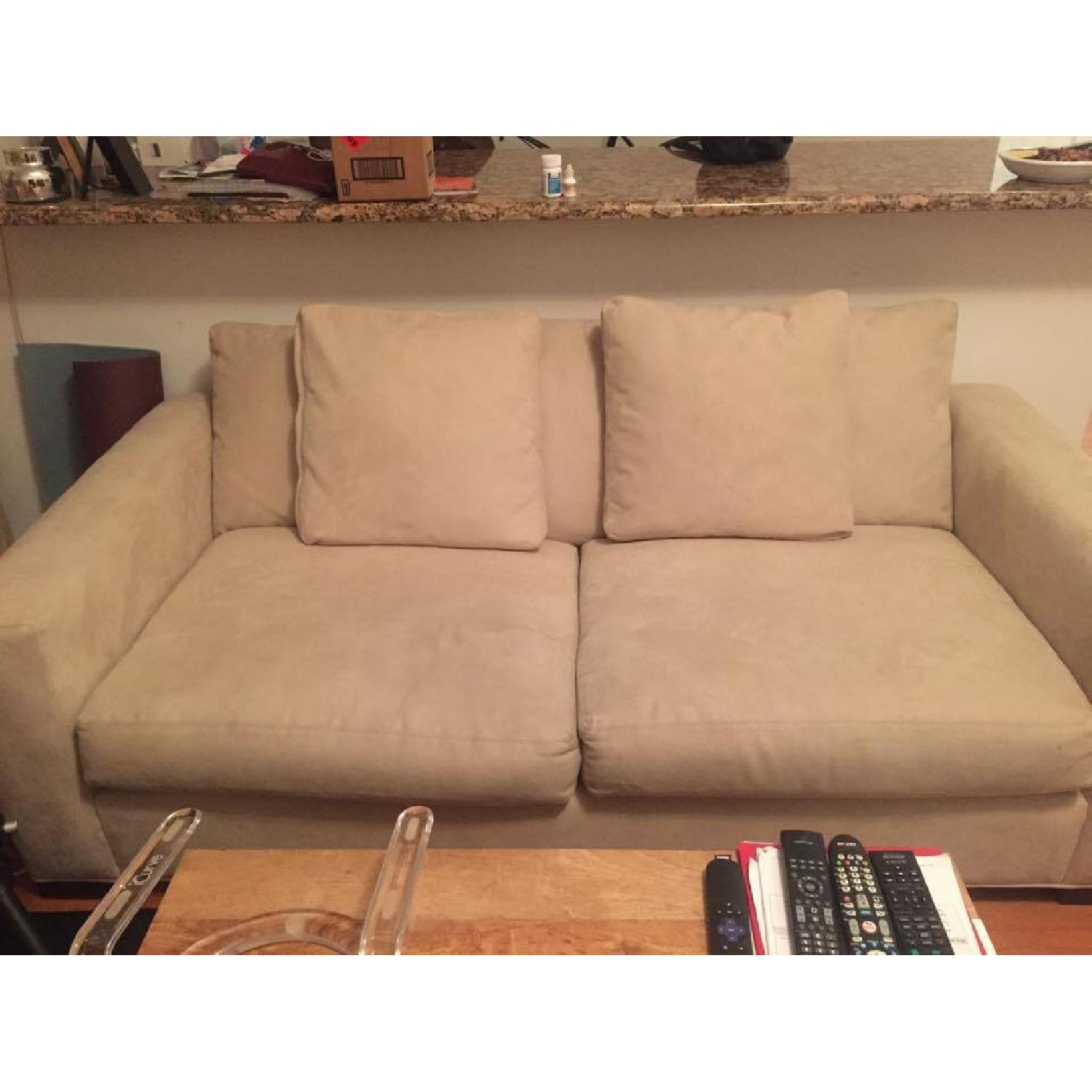 Room & Board Microsuede Couch - image-5