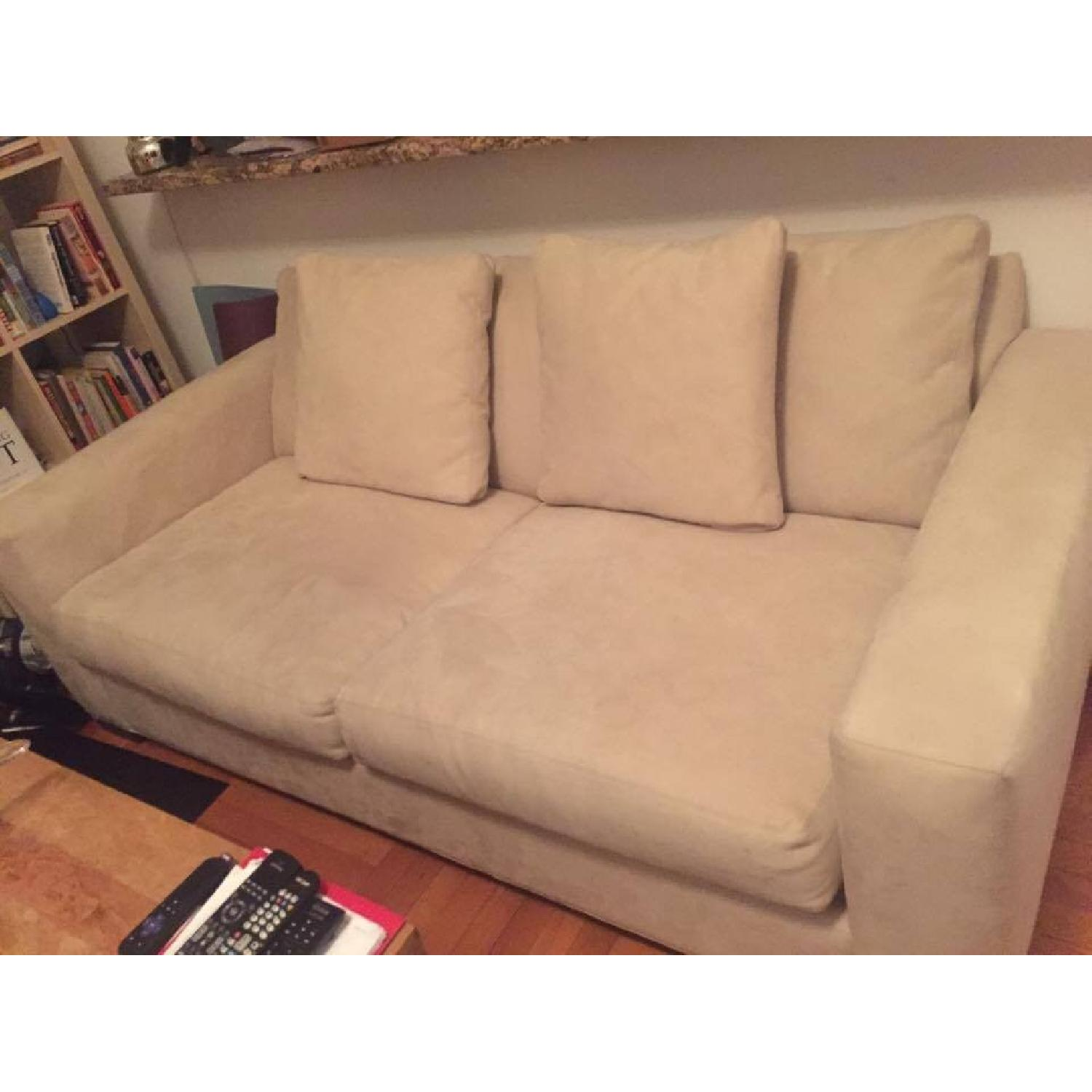 Room & Board Microsuede Couch - image-0