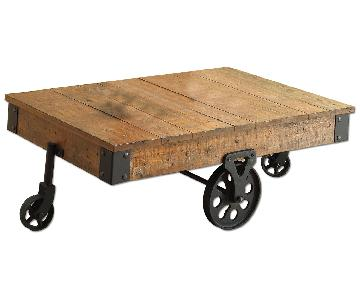 Whimsical Distressed Country Wagon Coffee Table