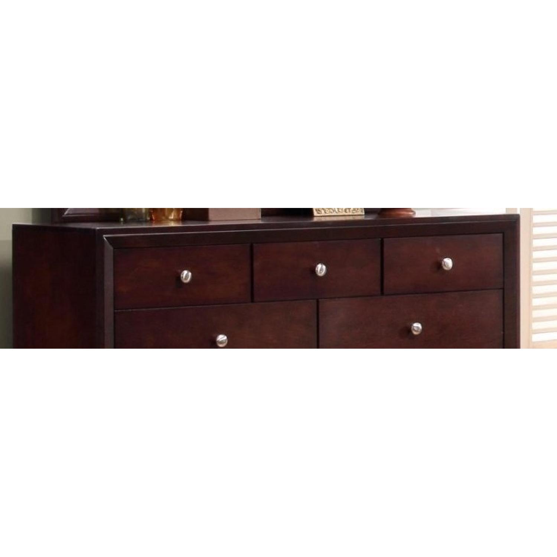 9-Drawer Dresser in Rich Merlot Finish w/ Brushed Nickel Kno - image-2