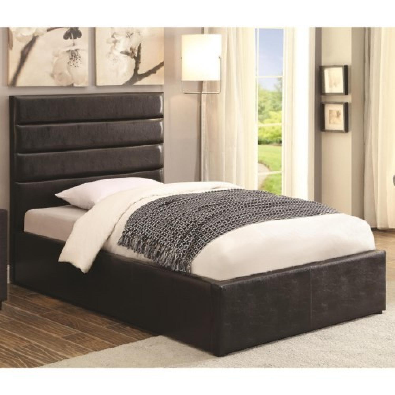 Modern Full Size Lift-Up Storage Platform Bed Upholstered - image-2
