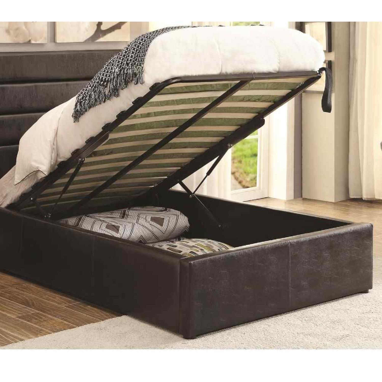 Modern Full Size Lift-Up Storage Platform Bed Upholstered - image-3