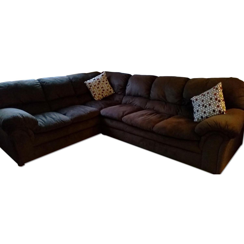 Chocolate-Brown Corner Sectional Sofa - image-0