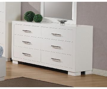 Modern 6-Drawer Solid Wood Dresser w/ Dove-Tail & Full Exten