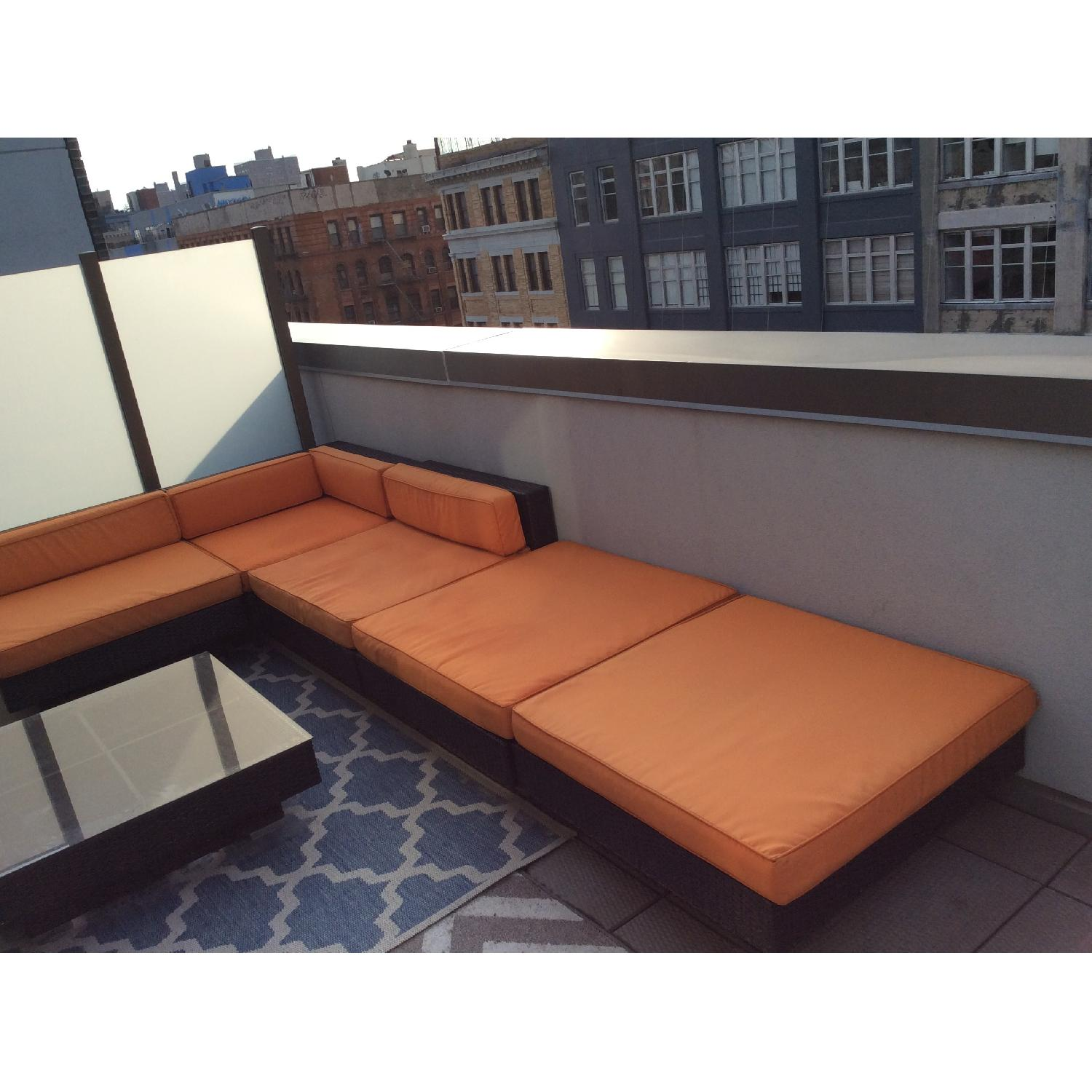 Gilt Outdoor Sectional Sofa - image-2