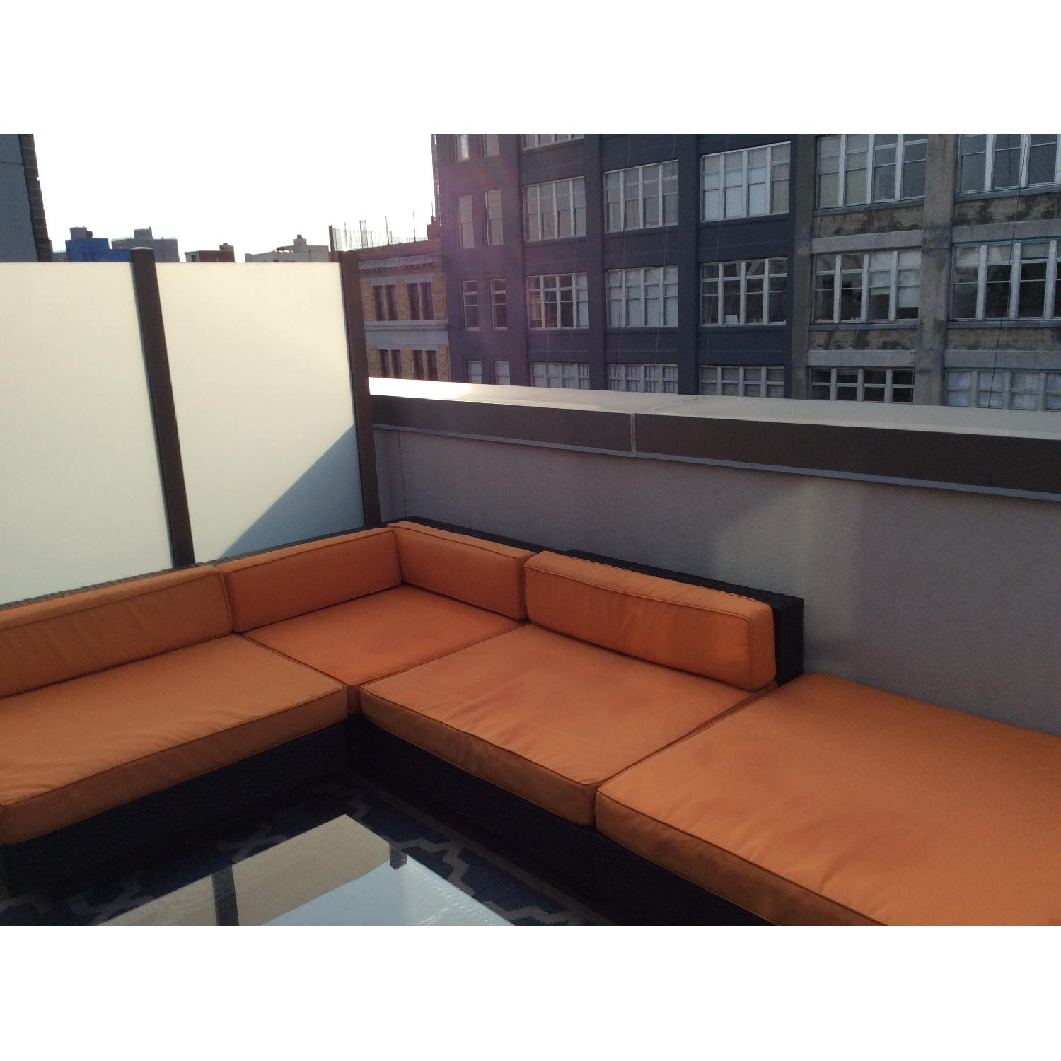 Gilt Outdoor Sectional Sofa - image-3