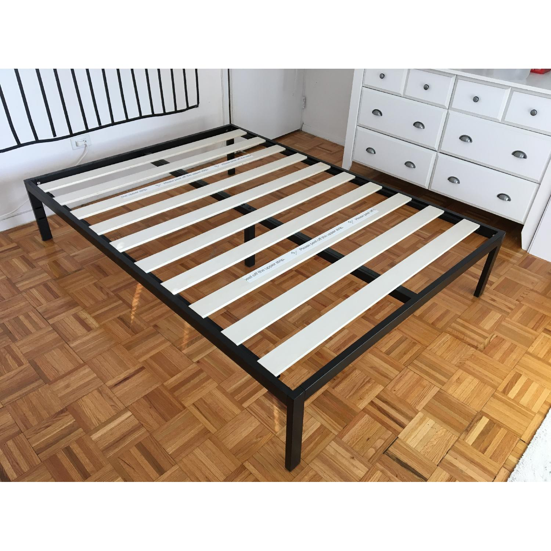 Zinus Platform Full Size Metal Bed Frame w/ Wooden Slat Support - image-2