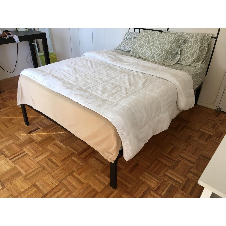 Zinus Platform Full Size Metal Bed Frame w/ Wooden Slat Support - image-4