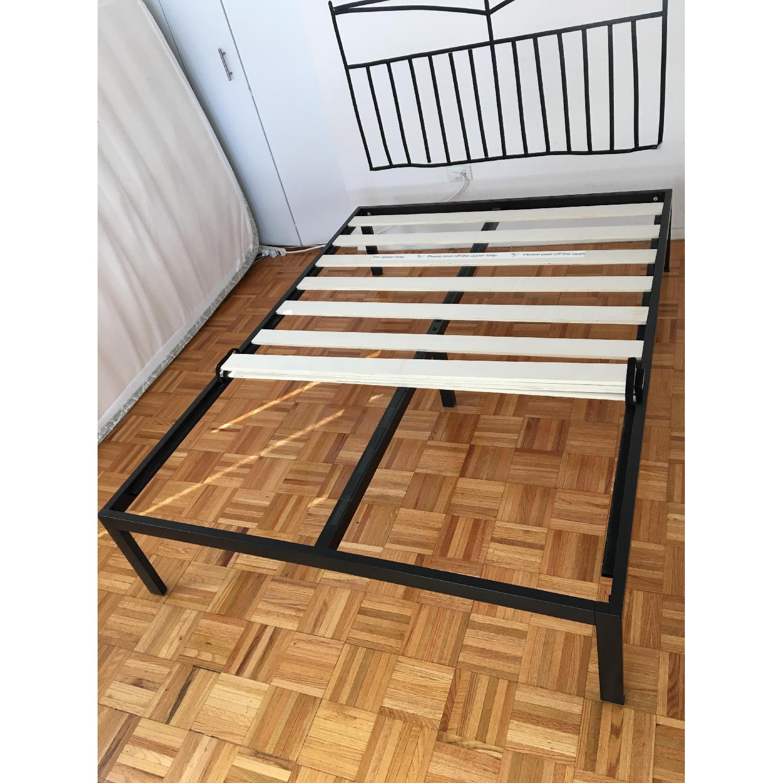 Zinus Platform Full Size Metal Bed Frame w/ Wooden Slat Support - image-5