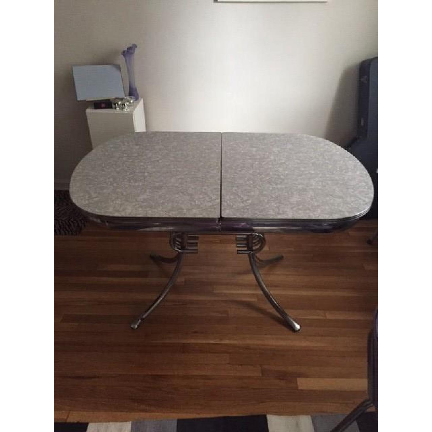Vintage Retro 50's Large Dinette Table w/ 4 Chairs - image-1