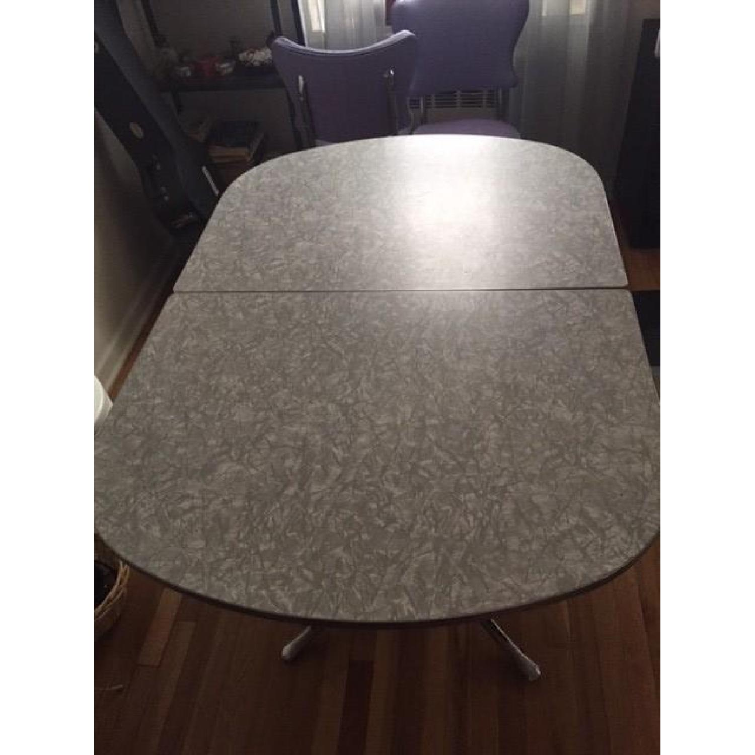 Vintage Retro 50's Large Dinette Table w/ 4 Chairs - image-2