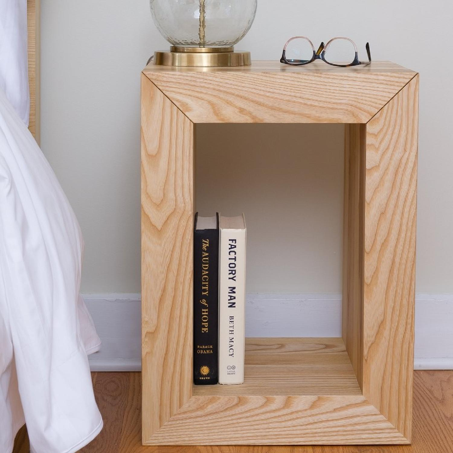 Handmade Wooden Side Table - image-1