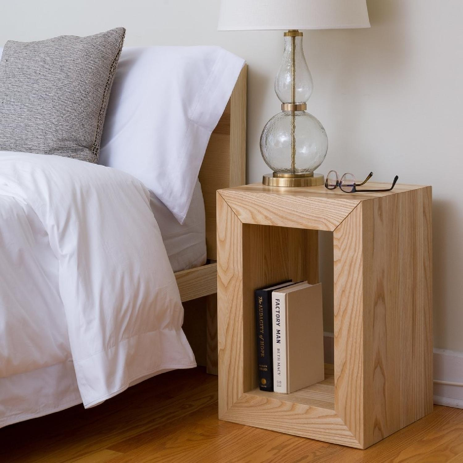 Handmade Wooden Side Table - image-2
