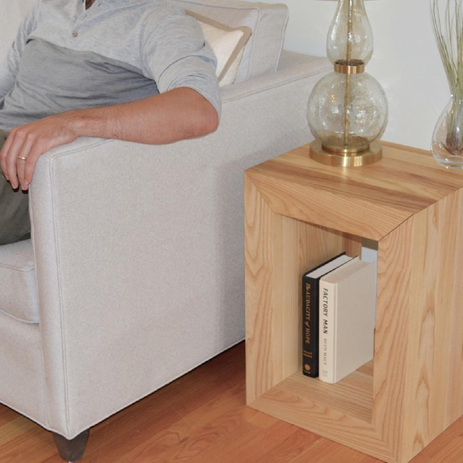 Handmade Wooden Side Table - image-3