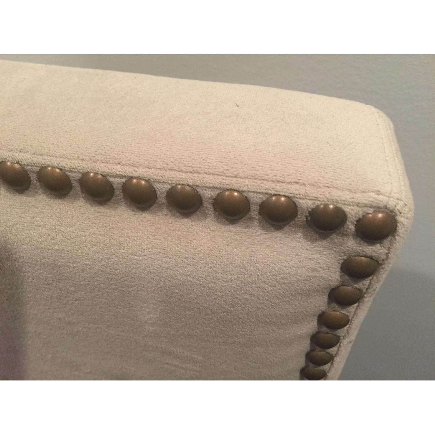 West Elm Full Size Nailhead Upholstered Headboard - image-3