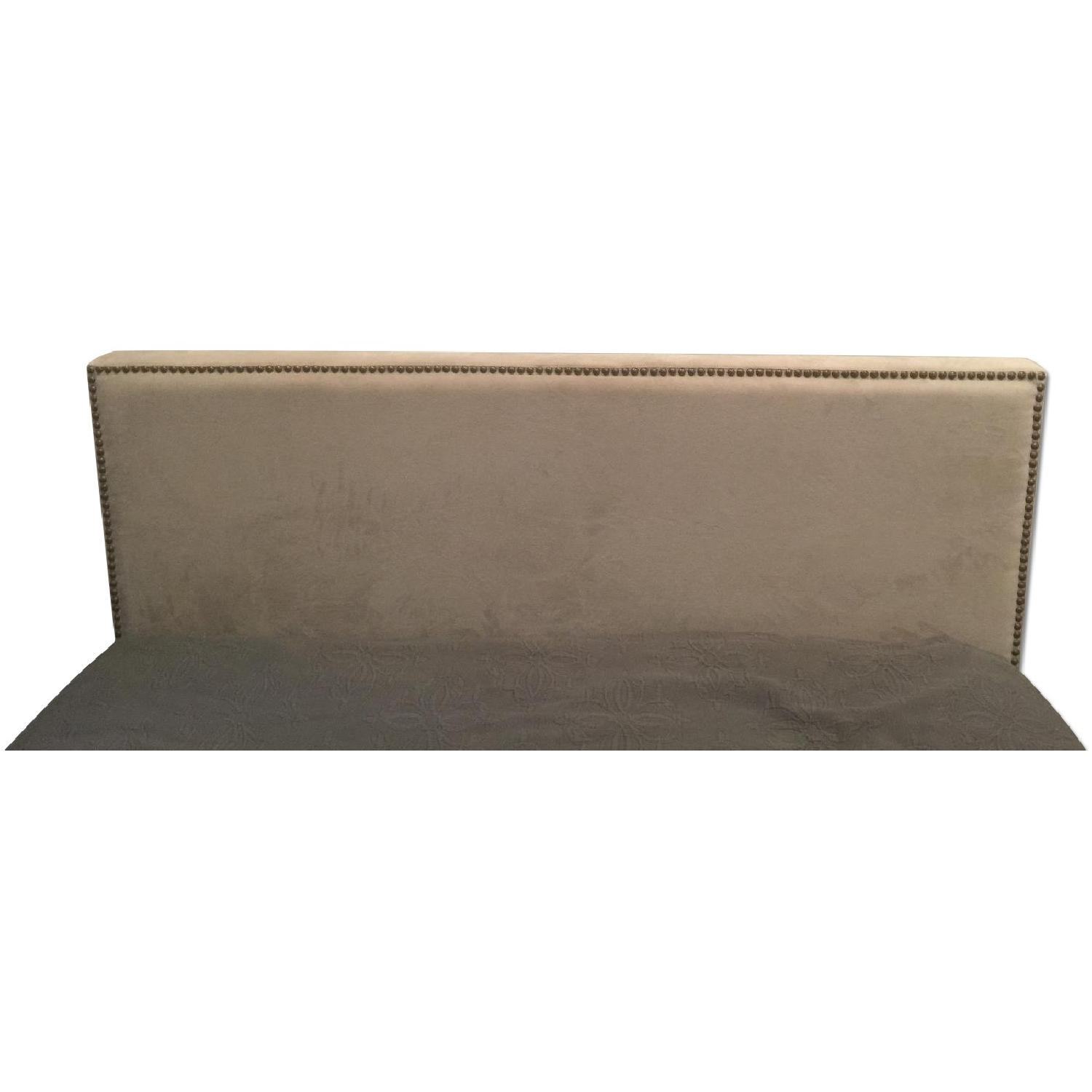 West Elm Full Size Nailhead Upholstered Headboard - image-0