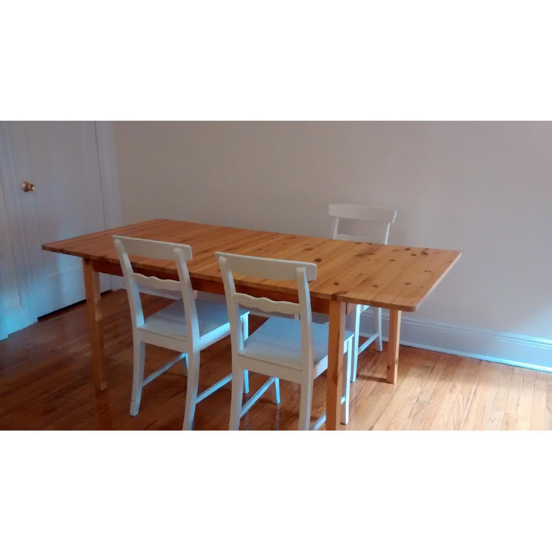 Ikea Svalbo Pine Extendable Dining Table Aptdeco