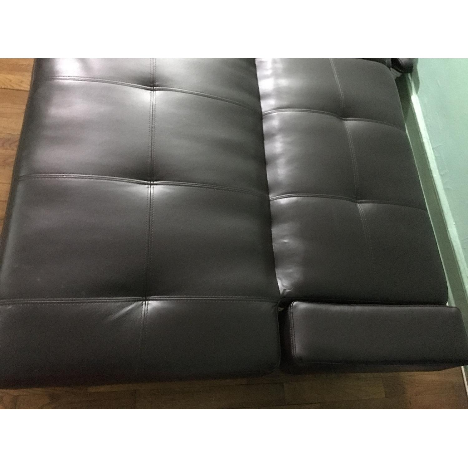 Corner Furniture Leather Sleeper Sofa - image-6