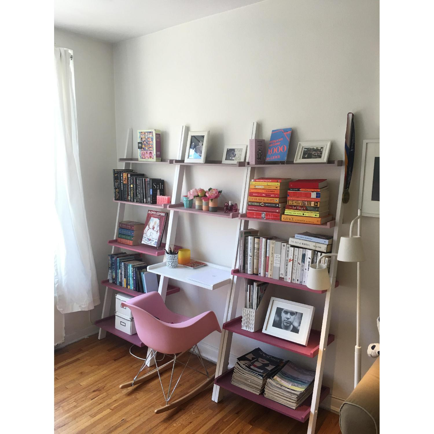 The Container Store Leaning Bookshelves w/ Desk - image-2
