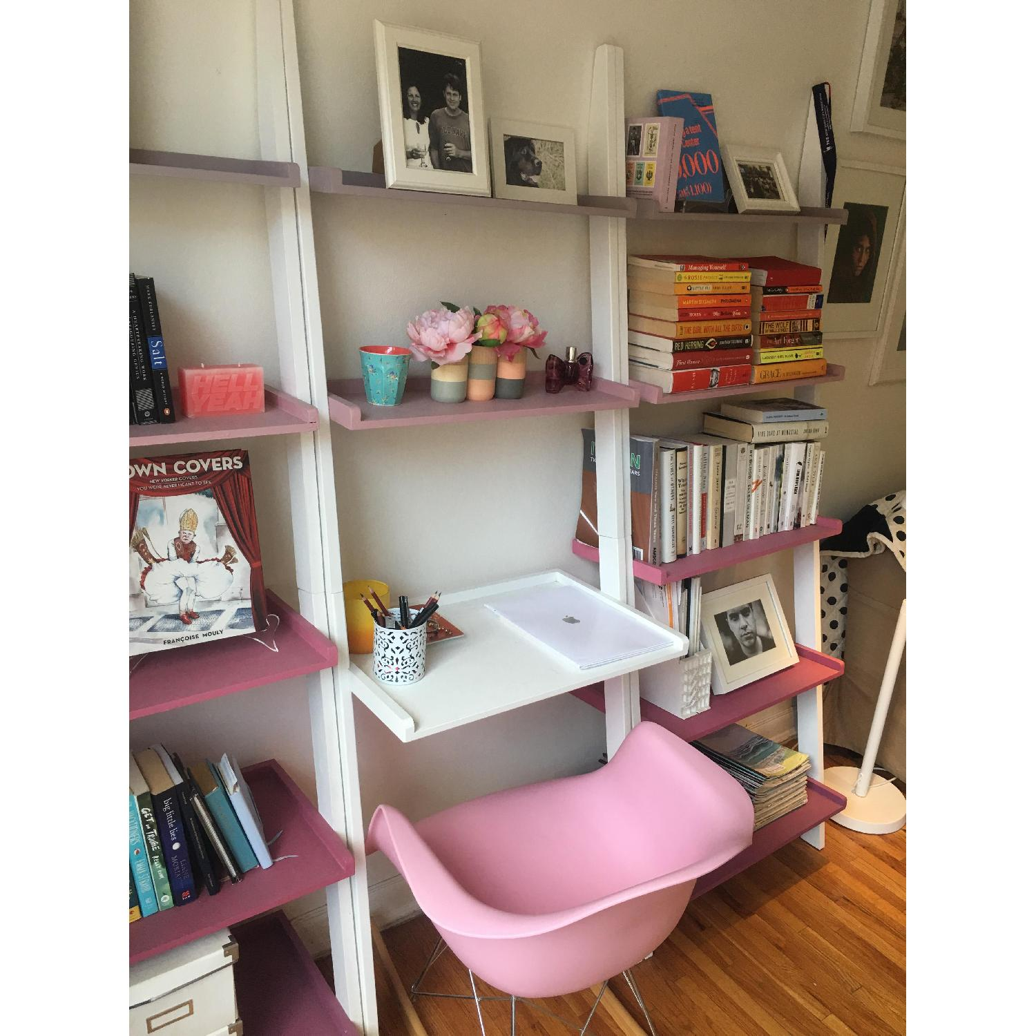 The Container Store Leaning Bookshelves w/ Desk - image-3