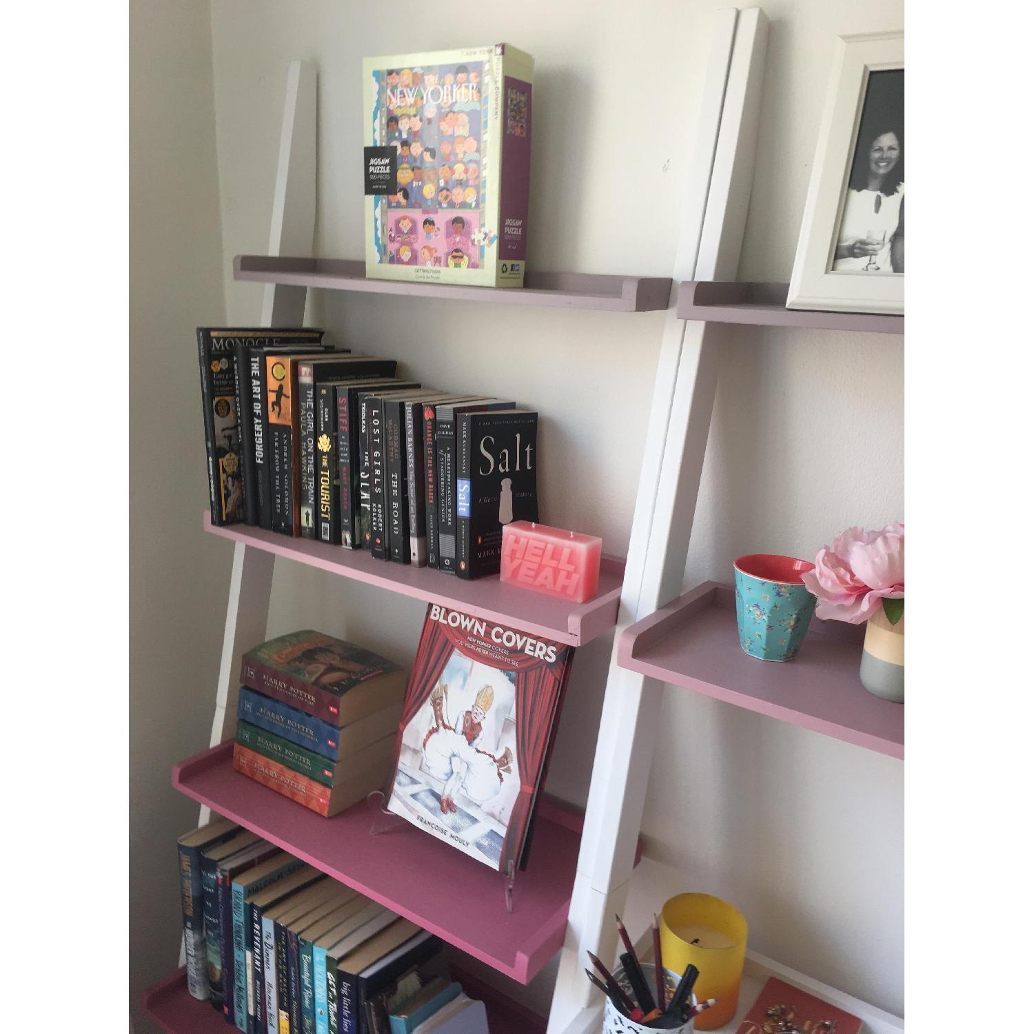 The Container Store Leaning Bookshelves w/ Desk - image-4